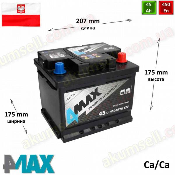 4MAX 45Ah R+ 480A