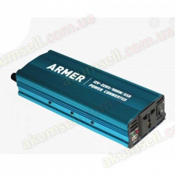 Инвертор ARMER ARM-PI1000 (12-220 В, 900Вт, клеммы)