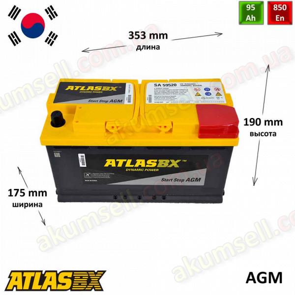 AtlasBX START-STOP 95Ah R+ 850A AGM