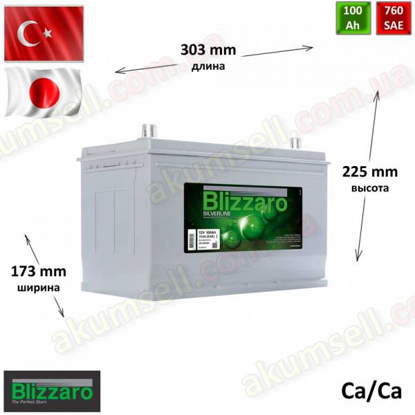 BLIZZARO Silverline 100Ah R+ 760A (ASIA)