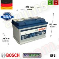 BOSCH START-STOP S4 (E07) 65Ah R+ 650A (низкий) EFB