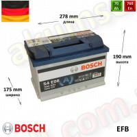 BOSCH START-STOP S4 (E08) 70Ah R+ 760A (EFB)