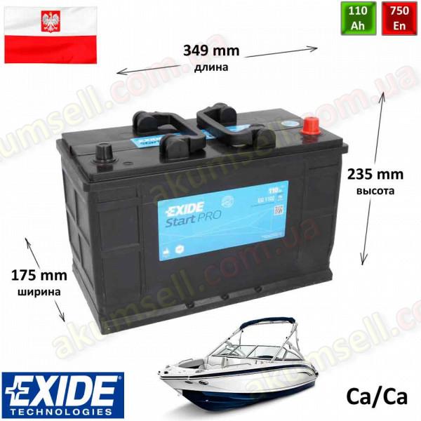EXIDE Start PRO 110Ah R+ 750A