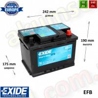 EXIDE START-STOP 60Ah R+ 640A EFB