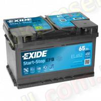 EXIDE START-STOP 65Ah R+ 650A (низкий) EFB