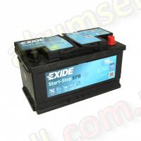 EXIDE START-STOP 75Ah R+ 730A (низкий) EFB