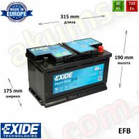 EXIDE START-STOP 80Ah R+ 720A EFB