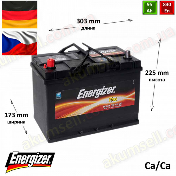 ENERGIZER Plus 95Ah R+ 830A (ASIA)
