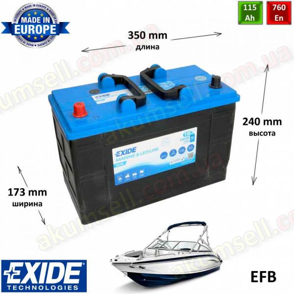 EXIDE Marine 115Ah L+ 760A DUAL EFB (550Wh)