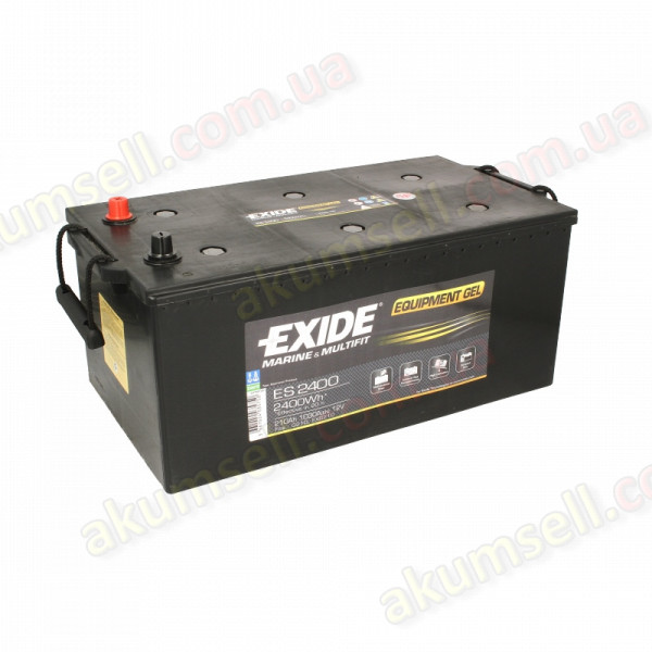 EXIDE Marine 210Ah L+ 1050A EQUIPMENT GEL (2400Wh)