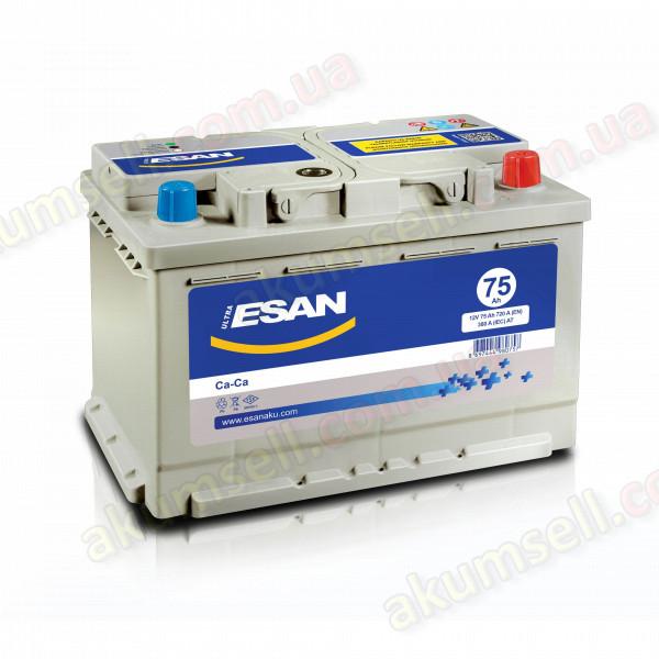 ESAN 75Ah R+ 720A (низкий)