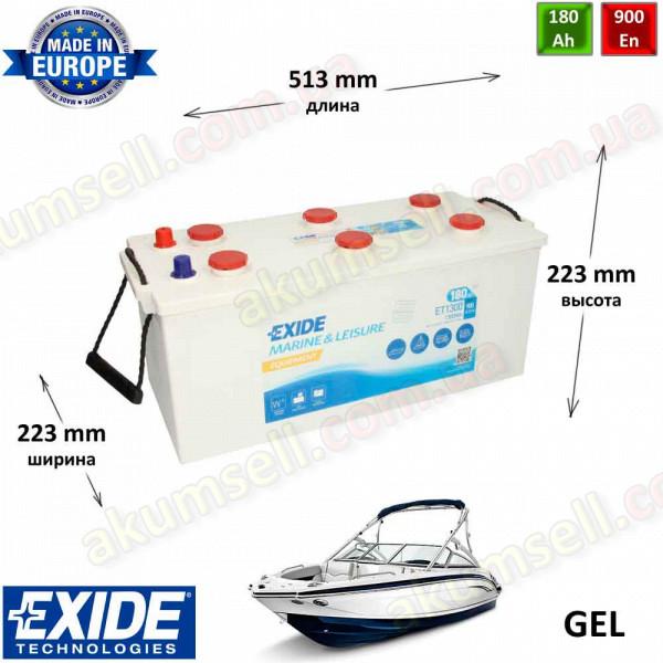 EXIDE Marine 180Ah L+ 900A EQUIPMENT (1300Wh)