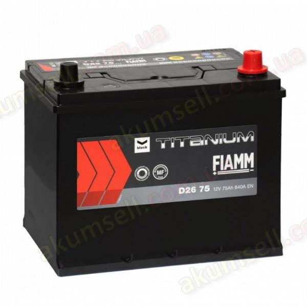 FIAMM Titanium Black 75Ah R+ 640A (ASIA)