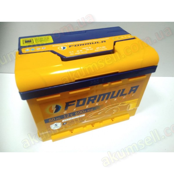 FORMULA 60Ah L+ 600A (низкий)
