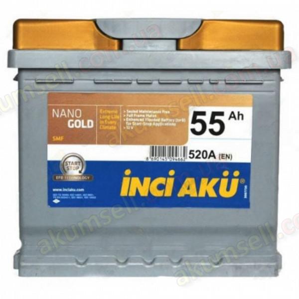 INCI AKU START-STOP 55Ah R+ 520A NANOGOLD
