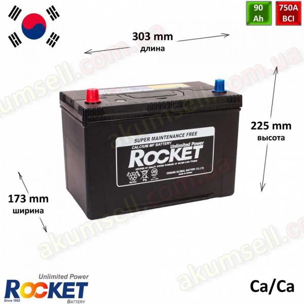 ROCKET 90Ah L+ 750A (ASIA)
