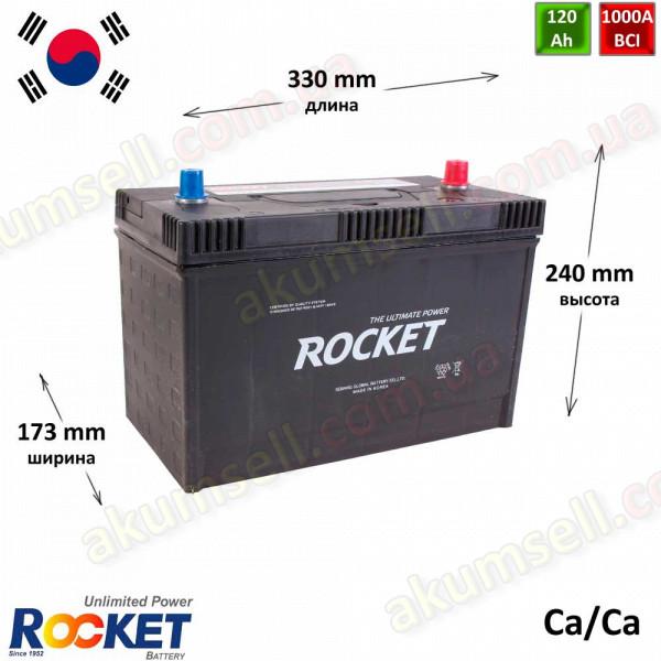 ROCKET 120Ah 1000A (USA шпилька)