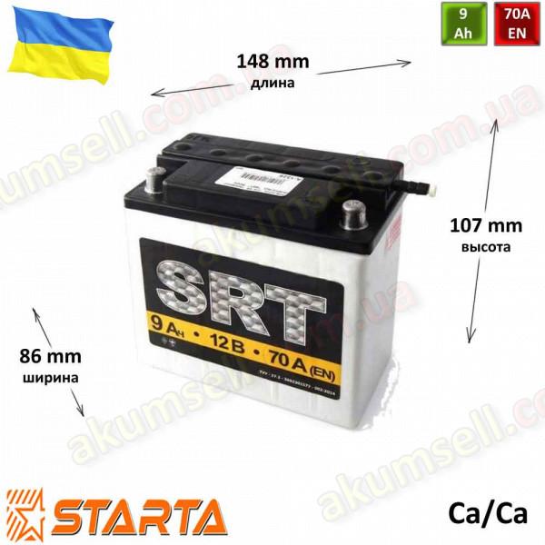 SRT 9Ah R+ 80A круглая клемма (кислотный)