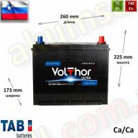 TAB Volthor ULTRA 75Ah R+ 740A (ASIA)