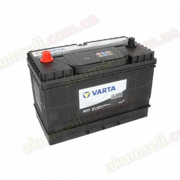 VARTA PROMOTIVE Black (H16) 105Ah L+ 800A (USA шпилька клеммы по центру)