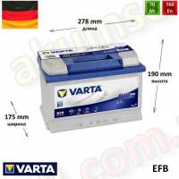 VARTA START-STOP Blue (N70) 70Ah R+ 760A (EFB)
