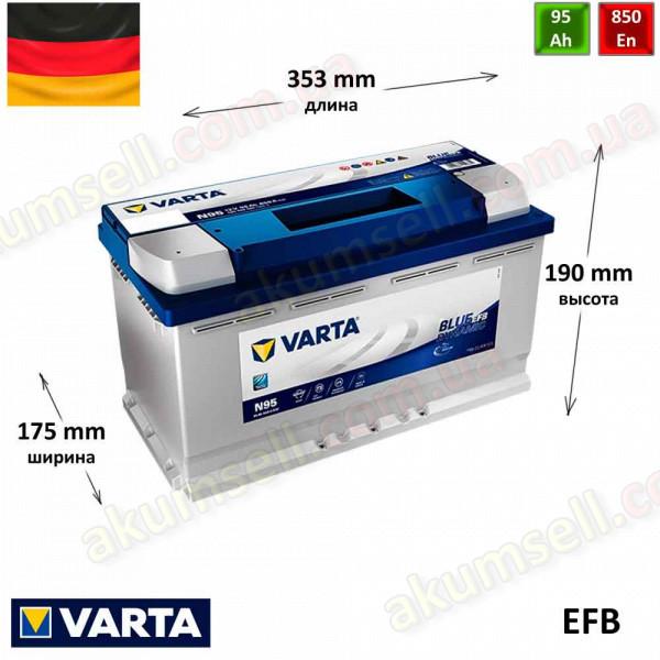 VARTA START-STOP Blue (N95) 95Ah R+ 850A EFB