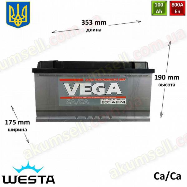 VEGA 100Ah R+ 800A