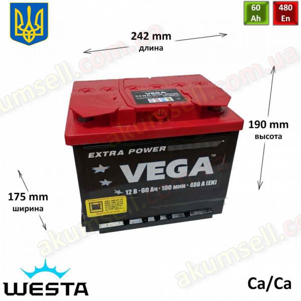 VEGA 60Ah L+ 480A