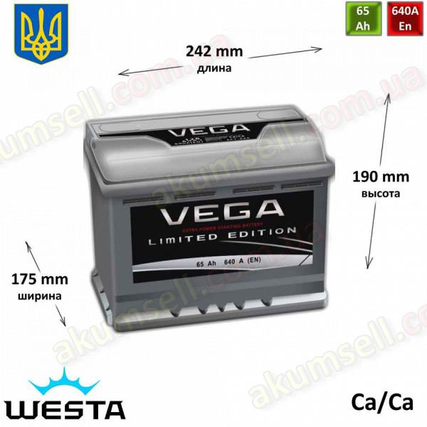 VEGA LE 65Ah R+ 640A