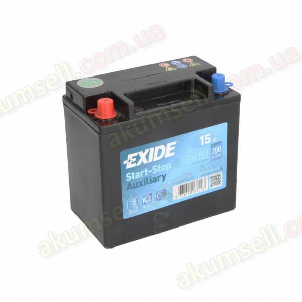 EXIDE START-STOP 15Ah L+ 200A (Land Rover) AGM