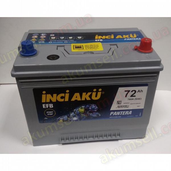 INCI AKU START-STOP 72Ah R+ 760A (ASIA) EFB