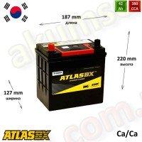 AtlasBX 42Ah L+ 380A (ASIA тонкие клеммы)