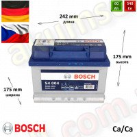 BOSCH S4 (004) 60Ah R+ 540A (низкий)