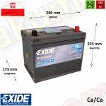 EXIDE Premium 75Ah R+ 630A (ASIA)