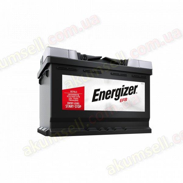 ENERGIZER START-STOP 75Ah R+ 730A (низкий) EFB