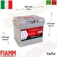 FIAMM Titanium Pro 50Ah R+ 520A (низкий)