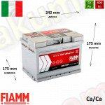 FIAMM Titanium Pro 60Ah R+ 600A (низкий)