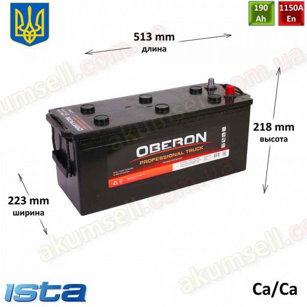 OBERON Professional Truck 190Ah L+ 1150A