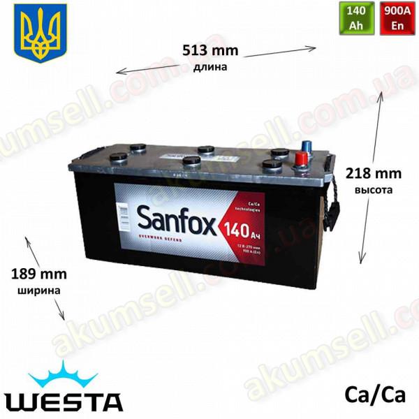 SANFOX 140Ah L+ 900A (Westa)