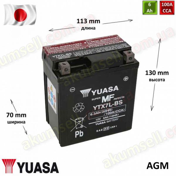 YUASA 6Ah R+ 100A (AGM)
