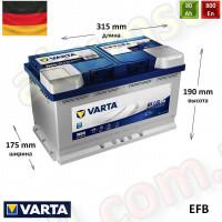 VARTA START-STOP Blue (N80) 80Ah R+ 760A (EFB)